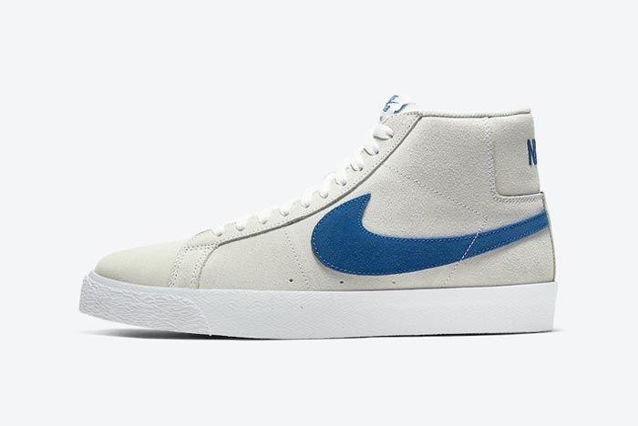 Nike Blazer Mid Lazer Blue Lateral