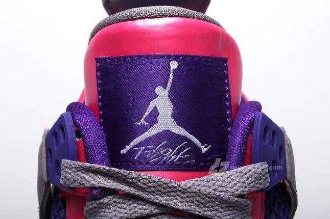 Air Jordan 4 Pink Foil Tongue Detail