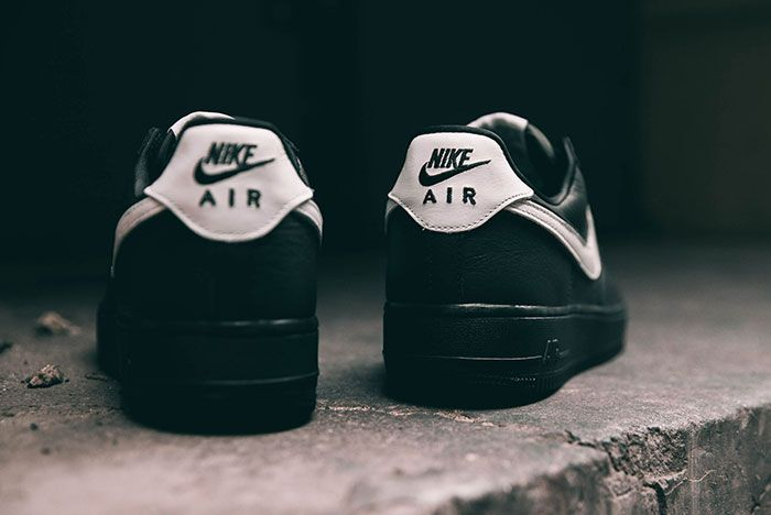 Nike Air Force 1 Qs Black White Friday Heel
