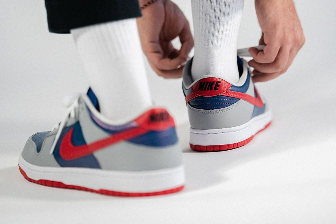 Nike Dunk Low Samba On Foot