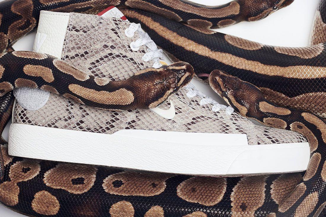 Soulland Nike Sb Blazer Snake Snakeskin Right 3