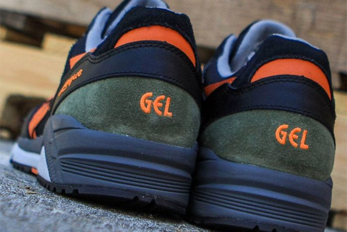 Asics Gel Lique Green Black Orange 1