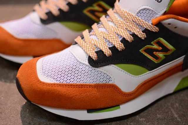 New Balance M1500 Whiteorangegreen 1