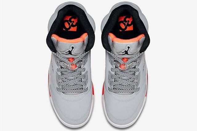 Air Jordan 5 Gg Wolf Grey Hot Lava 4
