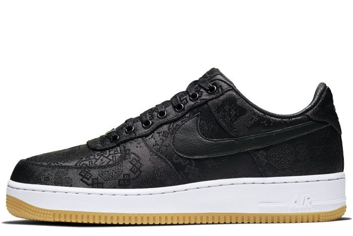 Nike Air Force 1 Clot Black Silk Left Lateral