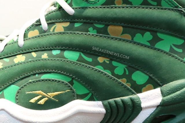 Reebok Shaqnosis Celtics Pattys Day Detail