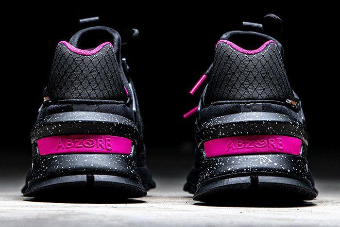 New Balance 997S Black Pink Heel Counter Close Up
