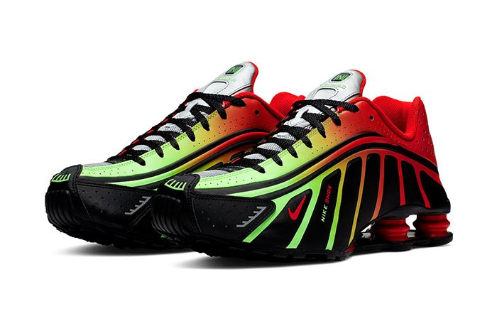 Neymar Nike Shox R4 Collaboration Official Black Red Green Release Date Pair