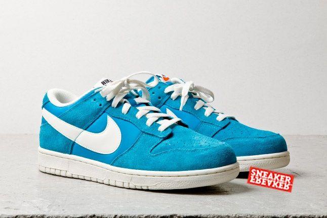 Nike Dunk Low Turquoise Toe Quarter