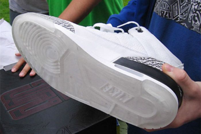 Air Jordan 3 White Cement Clear Sole Sample 2018 Sneaker Freaker 4