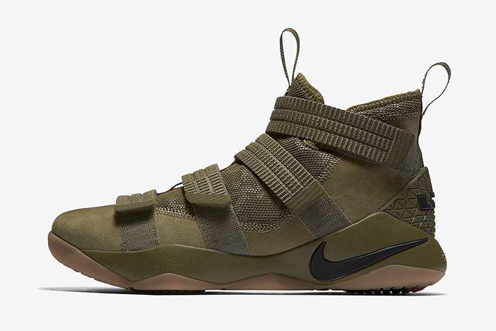 Nike Lebron Soldier 11 Olive 2