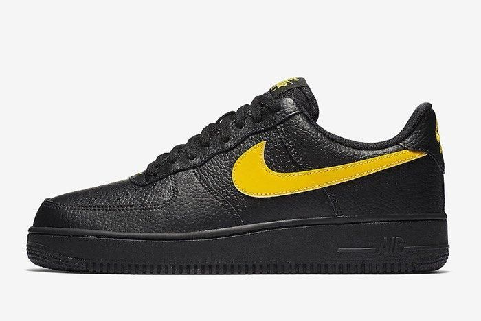 Nike Air Force 1 07 Lv8 Black Amarillo 5