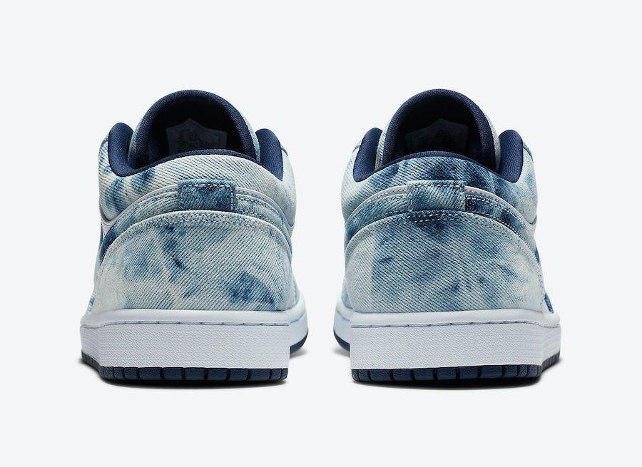 Air Jordan 1 Low Washed Denim Heel