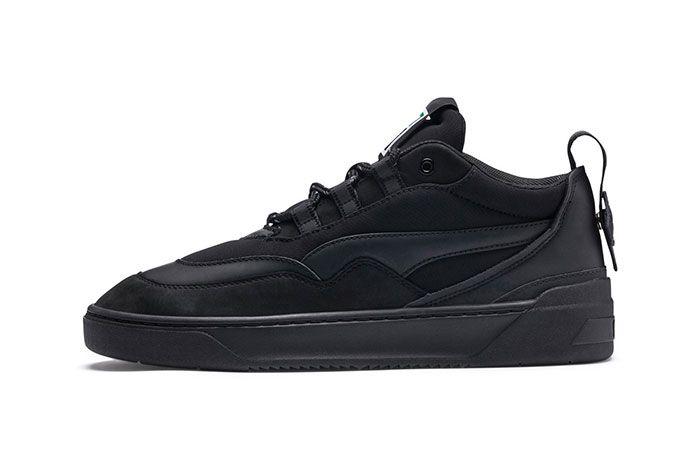 Puma Cali Zero Demi Midtop Sneakers Black Green Grey 2
