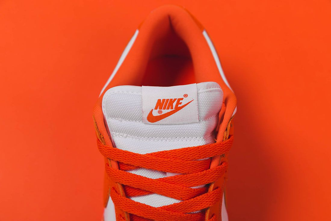 Up There Store Nike Dunk Low Sp White Orange Blaze Tongue