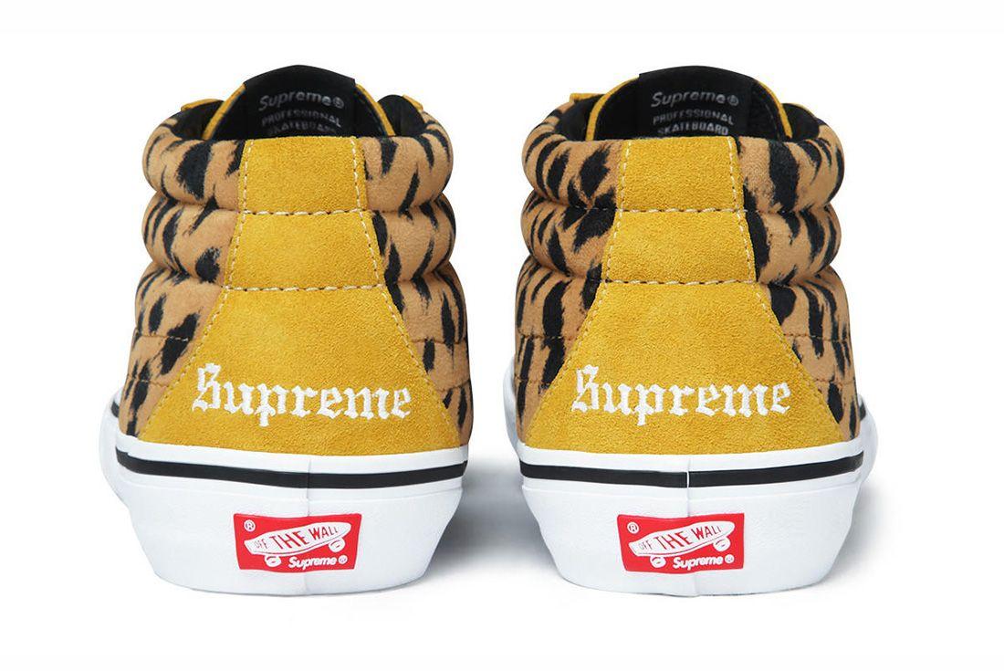 Supreme Vans Sk8 Mid Leopard Yellow 11