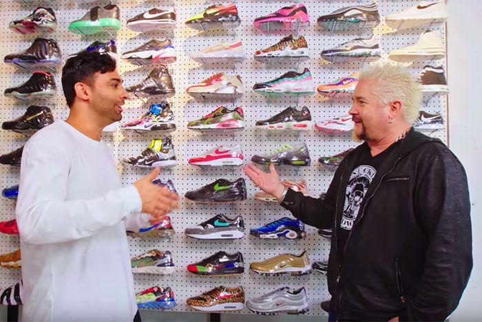 Guy Fieri Joe La Puma Sneaker Shopping
