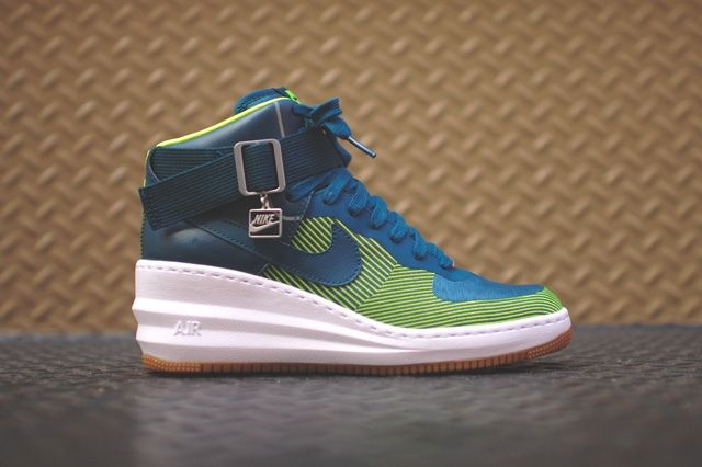 Nike Lunar Force 1 Sky Hi Jacquard Space Blue 8
