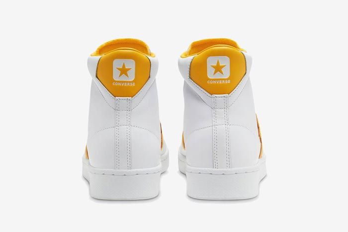 Converse Pro Leather Hi Yellow Heels