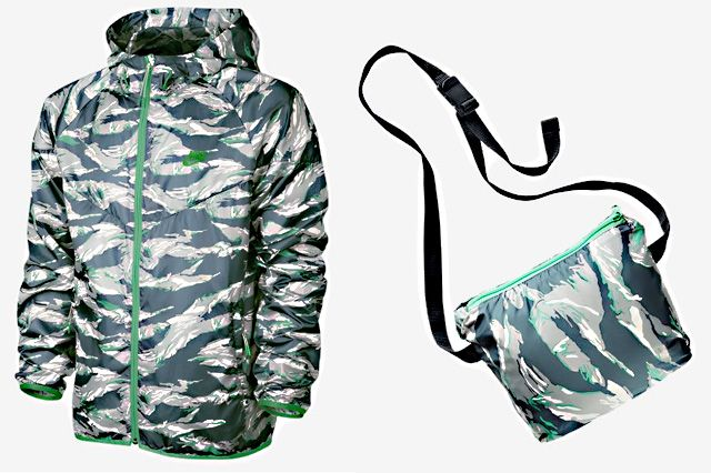 Nike Packable Camo Lightweight Windrunner Green