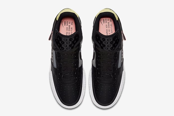 Nike Af1 Type Black Ci0054 001 Above Shot