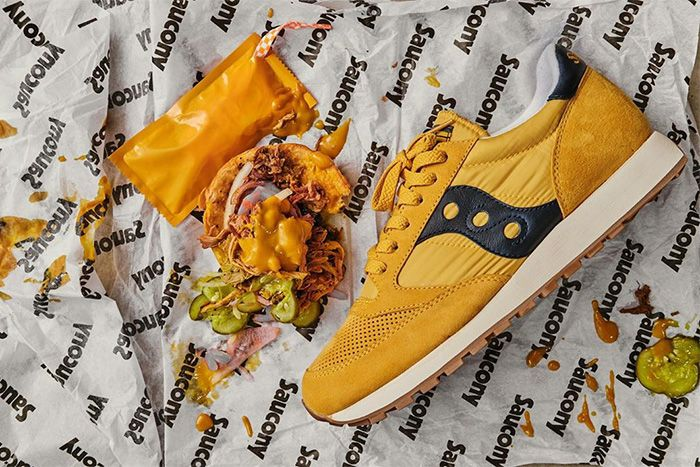 Sneaker Charleston Saucony Jazz Carolina Mustard Collaboration Release Date Hero