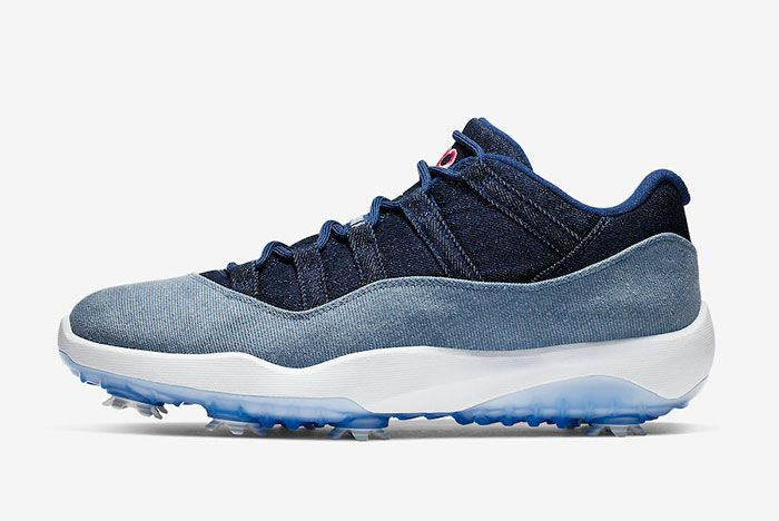 Air Jordan 11 Low Golf Denim Aq0963 400 Lateral