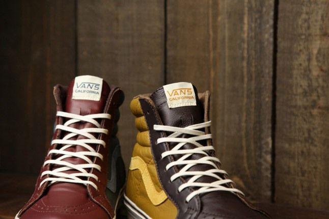 Vans Leather Sk8 Hi Frontl 1