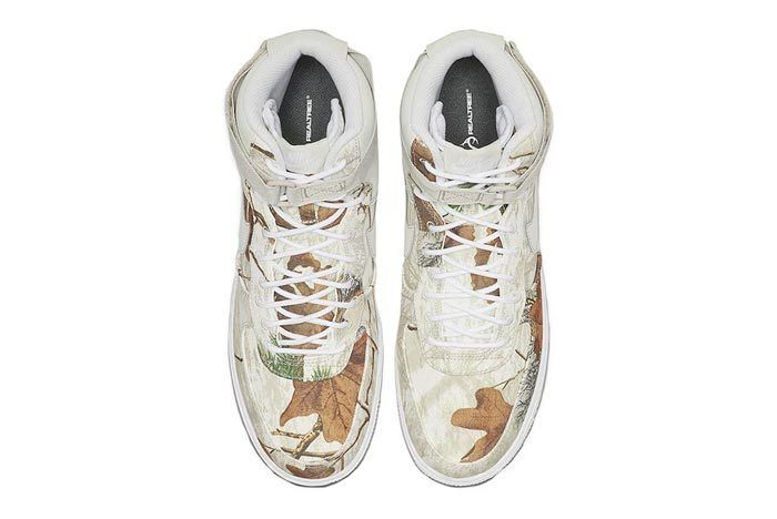 Realtree White Nike Air Force 1 Top
