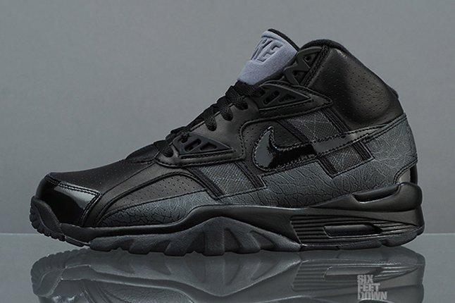 Nike Air Trainer Sc High Black Grey Profile 1