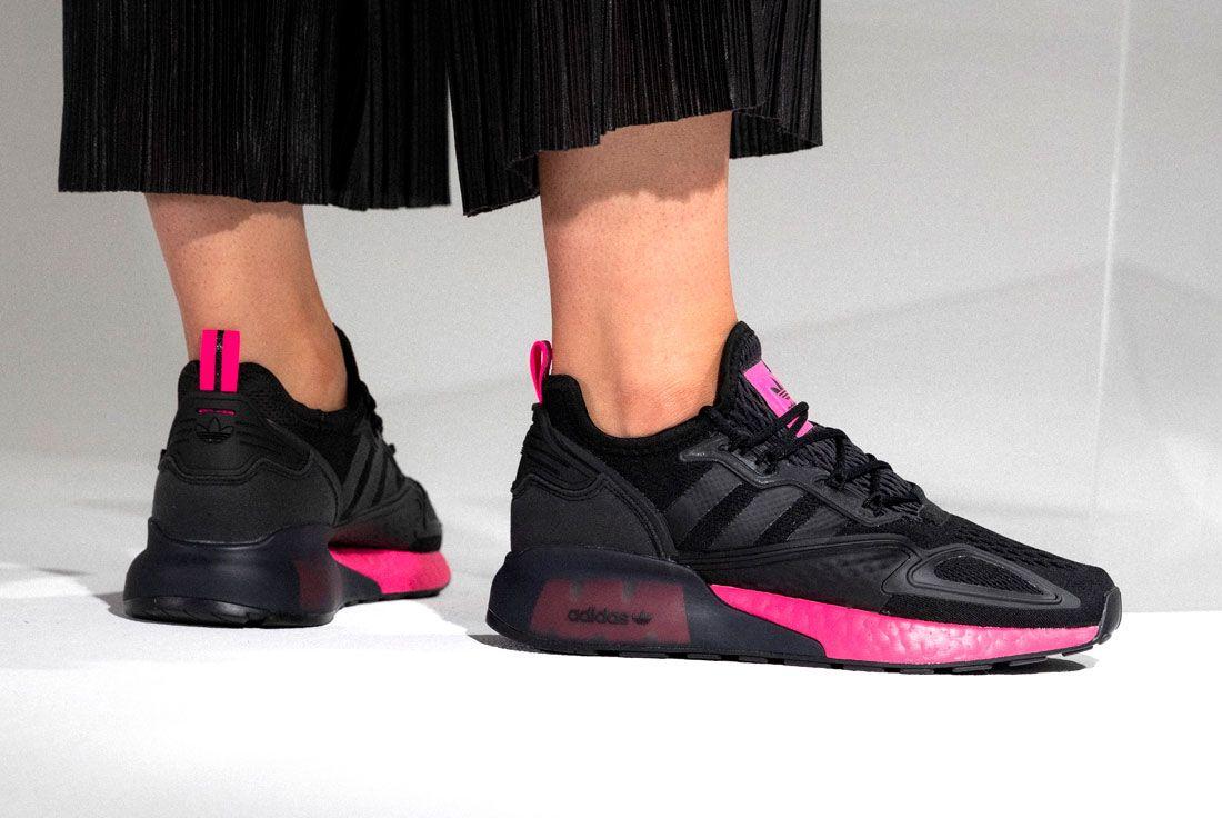 adidas ZX 2K BOOST (Black/Shock Pink)