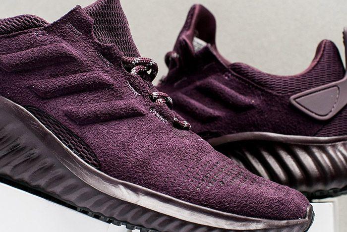 Adidas Alphabounce Suede Burgundy Womens 1