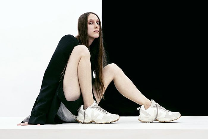 Rick Owens Veja Sustainable On Foot White Shot