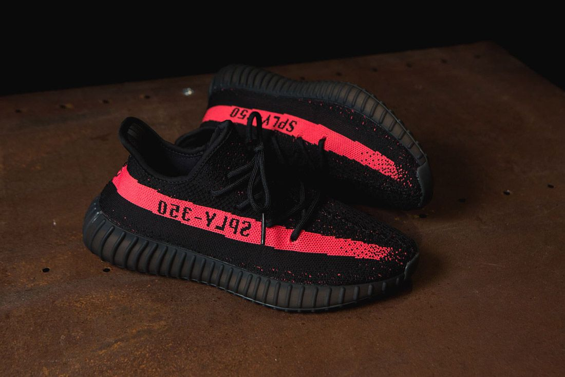 Adidas Originals Yeezy Boost 350 V2 Black Copper Solar Red Green 63