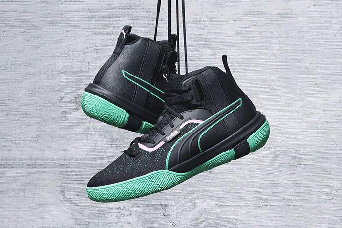 Puma Legacy Release Black Green Hanging