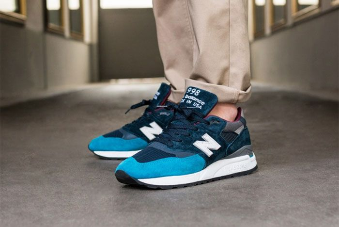 New Balance 998 Blue Navy Left