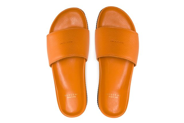 Buscemi Calfskin Leather Slides 4
