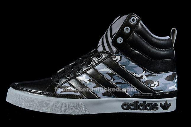 Adidas Top Court Camo Black Profile 1