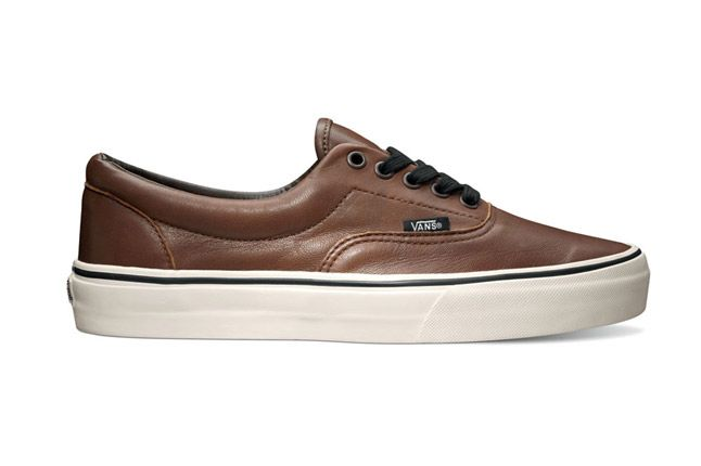 Vans Era Aged Leather Brown Holiday 2012 Side 1