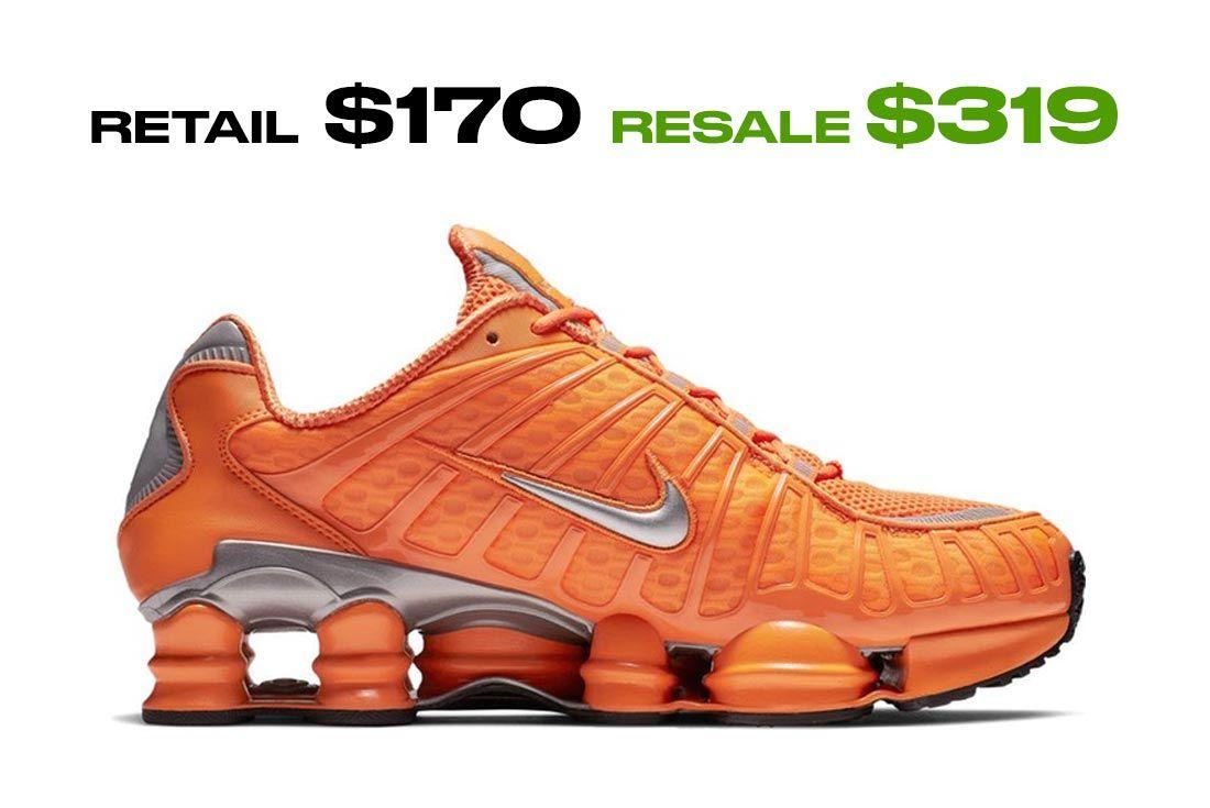 Nike Shox R4 Total Orange Right Side