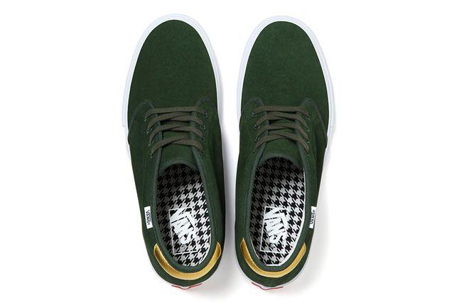 Vans Metallic Chukka Supreme Green Top 1