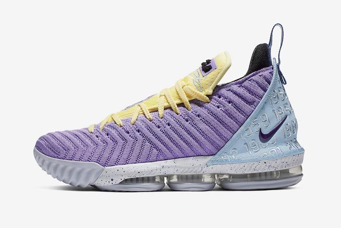 Nike Lebron 16 Lakers Heritage Lateral