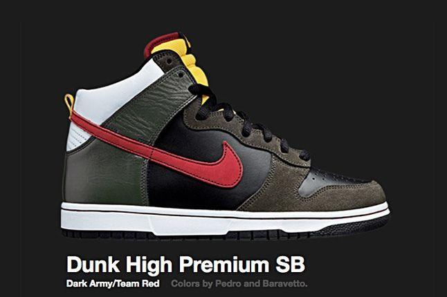 Nike Dark Army Dunk Hi Premium Sb 2008 2