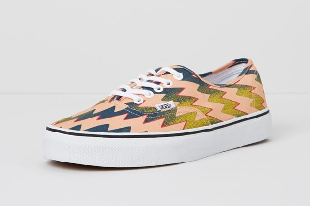 Vans X Kenzo Authentic Lightning Bolts Pink Side