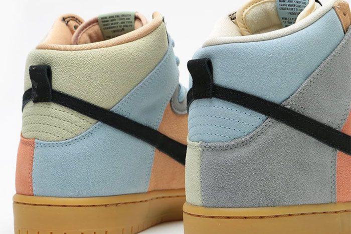 Nike Sb Dunk High Easter Spectrum Cn8345 001 Release Date 5 On White