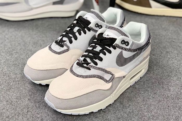 Nike Air Max 1 Inside Out White Black Grey 7 Pair Side