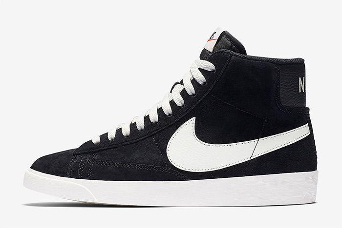Nike Blazer Mid Black Suede Left