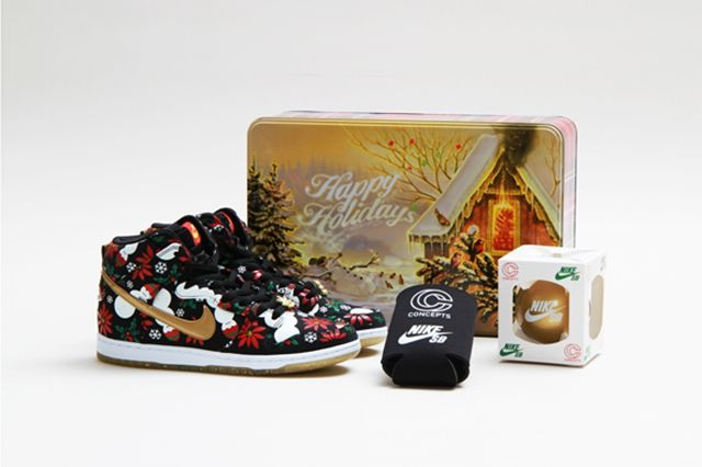 Concepts Nike Sb Dunk High Ugly Christmas Sweater 21