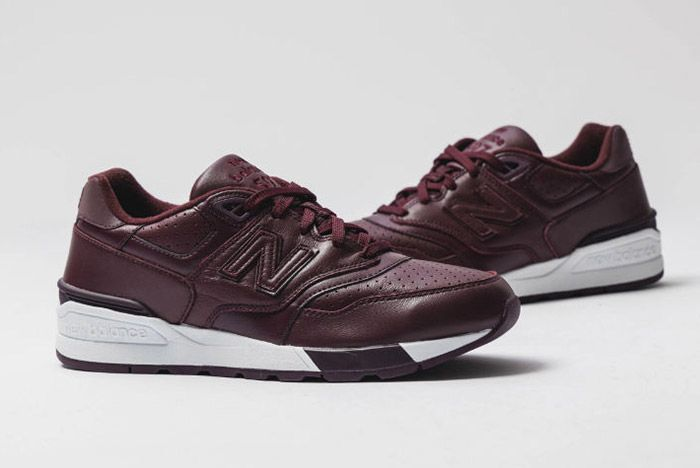 New Balance 597 Burgundy Leather 7