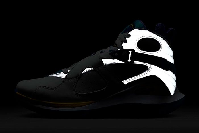 Nike Court Zoom Zero Jordan 8 Aqua Cq4481 100 Lateral Reflective